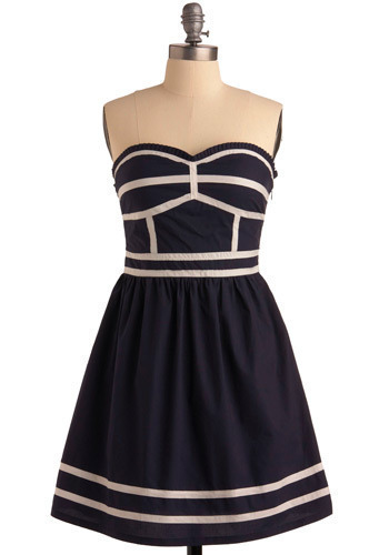 Seafaring Stunner Dress - Short