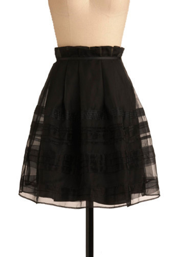 Sweet Treat Skirt in Licorice - Black, Solid, Pleats, Special Occasion, Party, Work, Casual, A-line, Spring, Summer, Mid-length