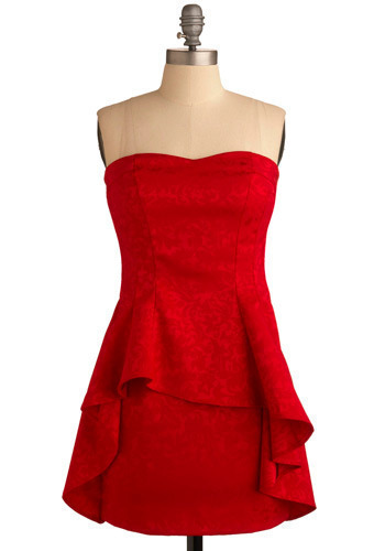 Priceless Poinsettia Dress - Short