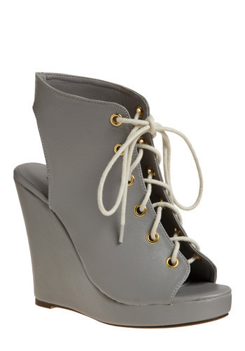 The Greyest Shoe on Earth Wedge - Grey, Solid, Casual, Urban, Wedge