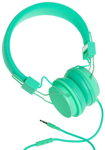 Thoroughly Modern Musician Headphones in Pool - Green, Dorm Decor