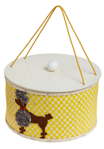 Vintage Poised Pup Sewing Box