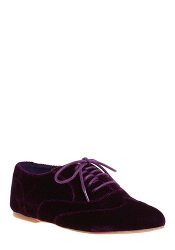 Plum-struck Flat - Purple, Solid, Casual