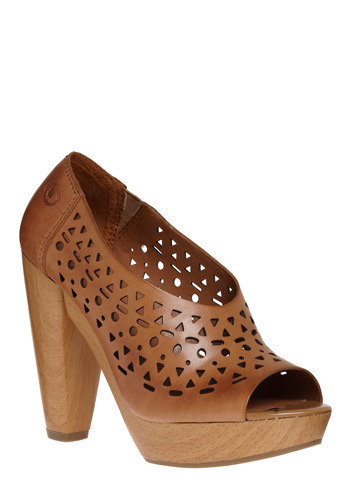 Shape of Your Heart Heel - Tan, Solid, Cutout, Casual, Boho, Spring, Summer
