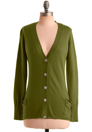 The Tiffany Cardigan by Tulle Clothing - Green, Solid, Buttons, Pockets, Work, Casual, Long Sleeve, Spring, Fall, Winter, Mid-length