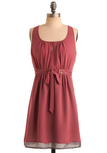Lights, Camera, Action Dress - Pink, Solid, Cutout, Party, Casual, A-line, Sleeveless, Tank top (2 thick straps), Mid-length