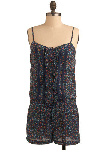 Top Floral Romper - Long