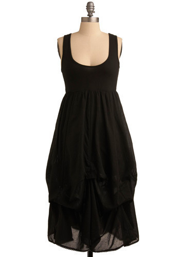 Made to Mingle Dress - Black, Solid, Casual, Empire, Sleeveless, Tank top (2 thick straps), Long