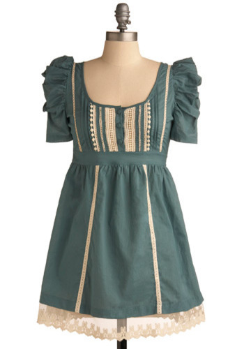Not To-tealy Traditional Dress - Green, Tan / Cream, Lace, A-line, Short Sleeves, Short