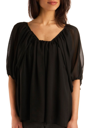 True Adoration Top - Black, Solid, Cutout, Party, Casual, Short Sleeves, Fall, Winter, Mid-length