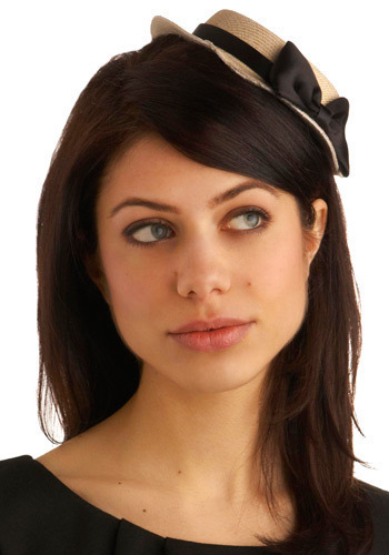 Small Beginnings Fascinator - Cream, Black, Bows, Casual, Statement, Vintage Inspired, 20s, 30s, 40s