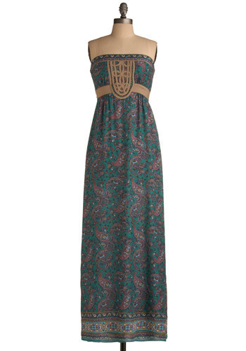 Pay-sley Day Dress - Green, Blue, Multi, Purple, Paisley, Maxi, Sleeveless, Spring, Summer, Long