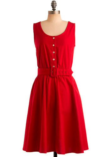 Vintage Better When Redder Dress