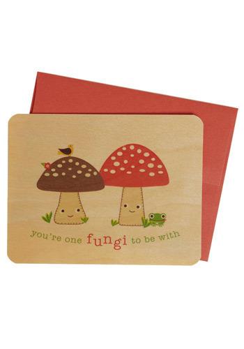 My Wooden Valentine in Mushroom - Valentine's