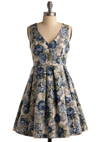 Posh Peonies Dress - Short
