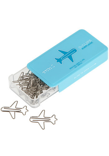 On the Wings of Organization Paperclips - Blue, Silver, Work, Casual