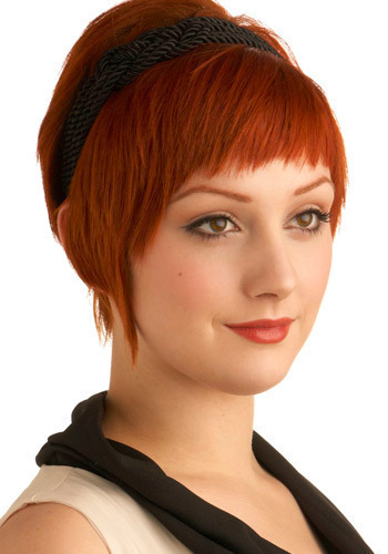 Certainly Knot Headband - Black, Braided, Casual