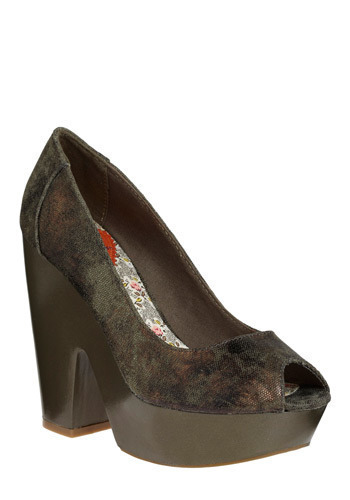 Dappled in Glam Heel - Brown, Wedding, Party, Casual, Green
