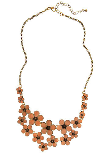 Peach and Every Flower Necklace - Orange