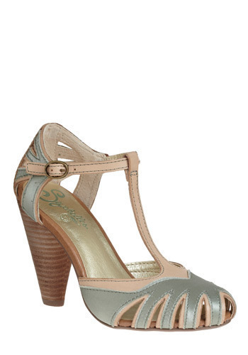 Pot of Gold Heel by Seychelles - Cream, Silver, Buckles, Cutout, Formal, Prom, Wedding, Party, Vintage Inspired