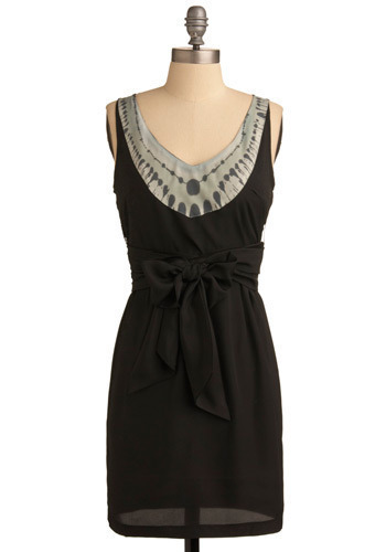 Wax Poetic Dress - Black, Green, Grey, Solid, Tie Dye, Shift, Sleeveless, Short
