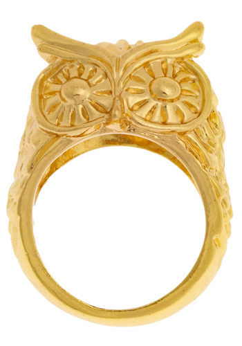 Owl Be Ring-ing You - Gold, Solid, Casual, Owls, Statement