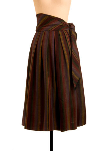 Vintage Striped Superiority Skirt