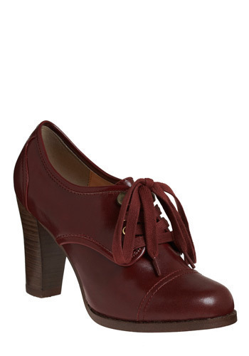 Parkside Stroll Heel - Red, Brown, Solid, Casual