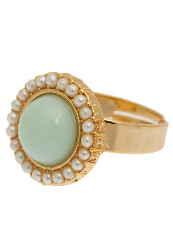 Ring Me Up - Green, Gold, White, Special Occasion, Wedding, Party, Luxe, Pearls