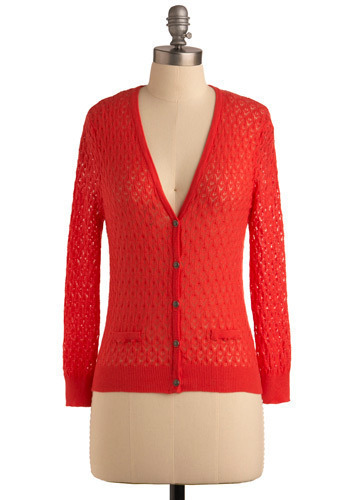 Warms the Soul Cardigan - Red, Buttons, Knitted, Party, Work, Casual, Long Sleeve, Spring, Fall, Mid-length