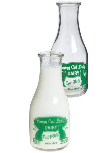 Cat Crazy Bottle Set - Green, Dorm Decor