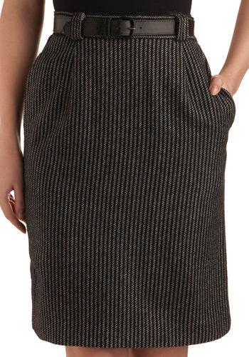 Vintage Dashing Diagonals Skirt