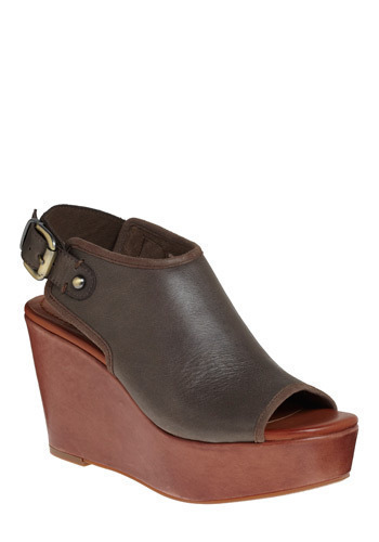 Sidewalk Stunner Wedge - Brown, Grey, Casual, Urban, Spring, Summer, Fall, Wedge