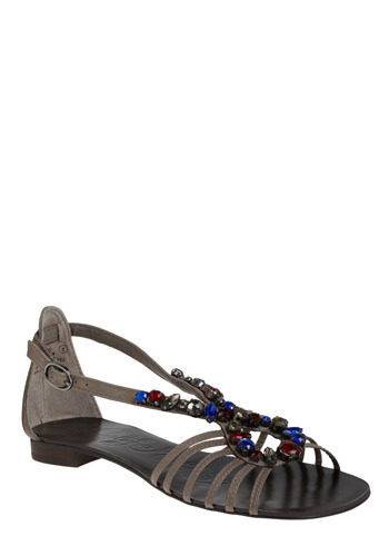 Truly Royal Sandal - Grey, Red, Blue, Beads, Casual, Boho, Spring, Summer