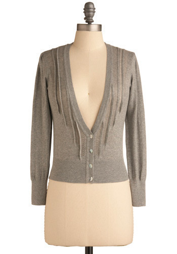 Trusted Essential Cardigan - Grey, Solid, Knitted, Casual, Long Sleeve, Fall, Short