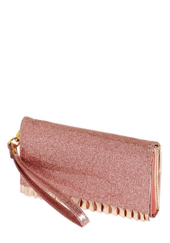 Glitter with Glamour Clutch - Pink, Ruffles, Party
