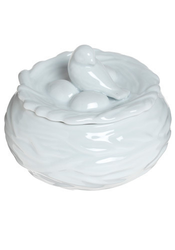 Nest of Nectar Sugar Dish - White