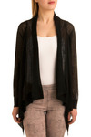 Near and Sheer Cardigan - Black, Solid, Casual, Long Sleeve, Spring, Fall, Mid-length