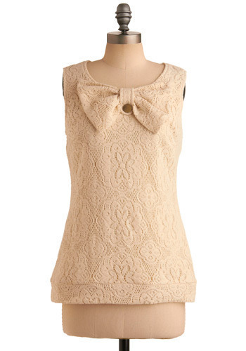 Boutique Shopping Top by Tulle Clothing - Cream, Floral, Buttons, Crochet, Casual, Boho, Sleeveless, Tank top (2 thick straps), Spring, Summer, Mid-length