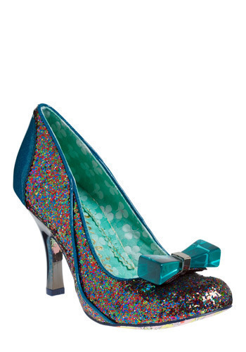 Wowie Zowie Heel by Irregular Choice - Blue, Multi, Bows, Prom, Party, Statement