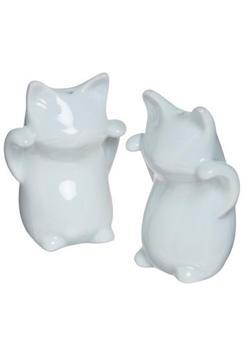 Twin Tabbies Shaker Set - White