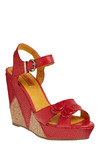 Hot Stepper Wedge by Miz Mooz - Red, Solid, Buckles, Buttons, Casual, Spring, Summer, Nautical, Wedge