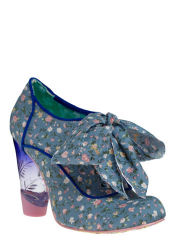 Crystal Bouquet Heel by Irregular Choice - Blue, Yellow, Green, Pink, White, Floral, Bows, Party, Casual, Statement