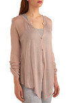 Descending Sun Top - Pink, Solid, Casual, Long Sleeve, Short