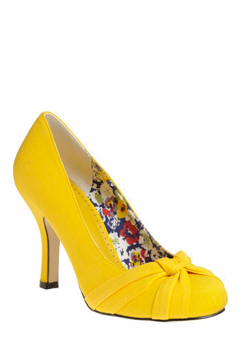 Citrus in the City Heel - Yellow, Solid, Wedding, Party, Work, Casual
