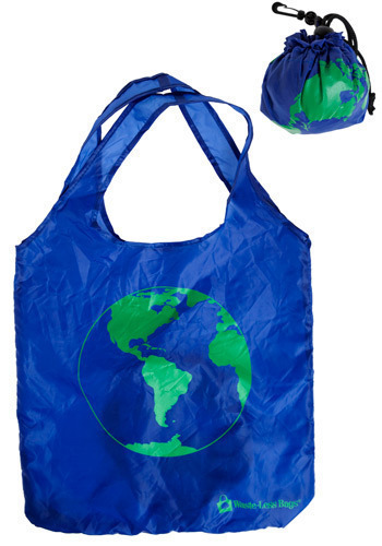 For All the World Tote - Blue, Green, Novelty Print, Casual