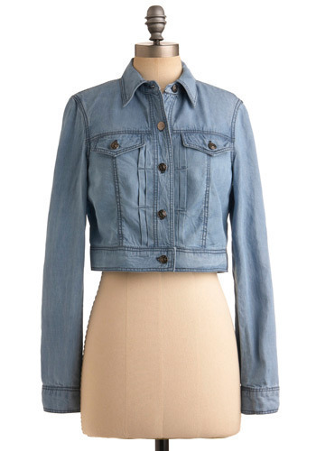 Perfect Day Jacket - Blue, Solid, Casual, Boho, Urban, Long Sleeve, Spring, Summer, Fall, Short, 1.5