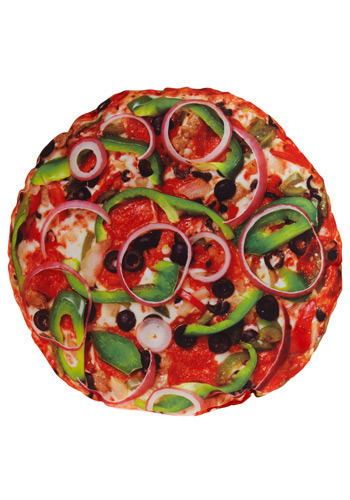 Gimme Pizza Pillow - Multi, Dorm Decor