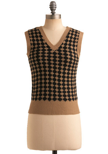 Vintage Late Afternoon Latte Sweater Vest