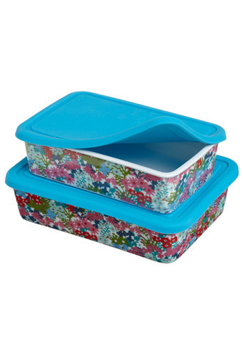 Gourmet Gardens Container Set - Blue, Multi, Red, Green, Blue, Pink, White, Floral, Vintage Inspired